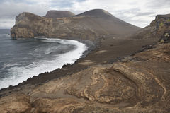 Azores volcanic coastline landscape in Faial island. Ponta dos C Stock Photo