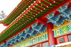 Azotea china del templo Fotos de archivo