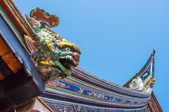 Azotea china del templo Imágenes de archivo libres de regalías