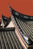Azotea china muy vieja del templo Foto de archivo libre de regalías