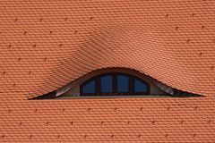 Azotea con la ventana Foto de archivo libre de regalías