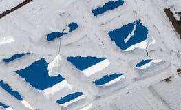 Azotea congelada Fotografía de archivo