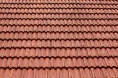Azotea de azulejo Tejado de teja roja italiano para el fondo Imágenes de archivo libres de regalías