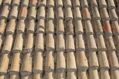 Azotea de azulejo vieja foto de archivo