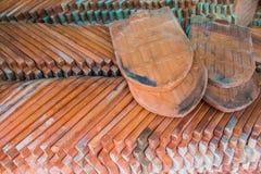 Azotea de azulejos rojos Foto de archivo libre de regalías