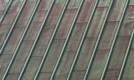 Azotea de cobre verde fotos de archivo