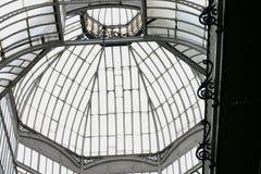 Azotea de cristal y de acero Fotos de archivo