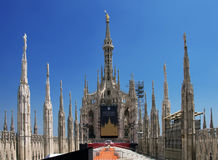 Azotea de la catedral en Milano Imagen de archivo