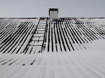 Azotea de la nieve imagenes de archivo