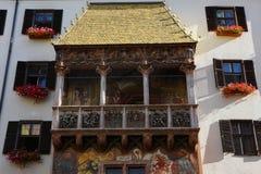 Azotea de oro Innsbruck imágenes de archivo libres de regalías