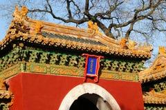 Azotea decorativa y puerta arqueada Imágenes de archivo libres de regalías