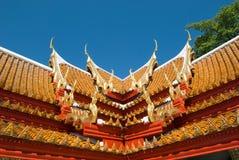 Azotea del templo budista Foto de archivo libre de regalías