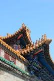 Azotea del templo budista Fotografía de archivo libre de regalías