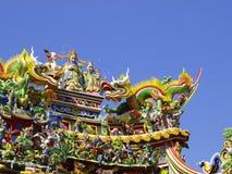 Azotea del templo chino imagenes de archivo