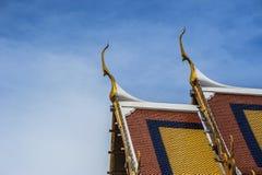 Azotea del templo en Bangkok Fotografía de archivo