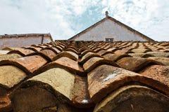 Azotea embaldosada en Dubrovnik Fotografía de archivo