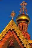 Azotea rusa de la iglesia ortodoxa Imagen de archivo libre de regalías