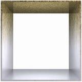 Azotea sucia del metal del marco de rectángulo Fotografía de archivo