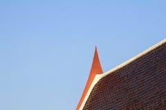 Azotea tailandesa del templo arquitectura hermosa de Tailandia Fotografía de archivo libre de regalías