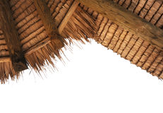 Azotea tropical de la paja fotografía de archivo