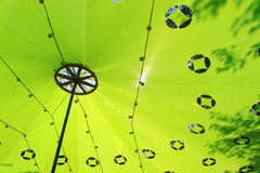 Azotea verde Foto de archivo