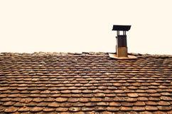 Azotea y chimenea viejas Imagen de archivo