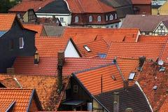 Azoteas de azulejo rojo Fotografía de archivo libre de regalías