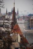 Azoteas de Budapest Imagenes de archivo