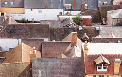Azoteas de casas viejas en Ludlow Shropshire Foto de archivo