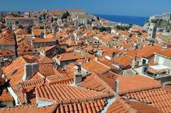 Azoteas de Dubrovnik Fotos de archivo libres de regalías