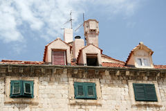 Azoteas de Dubrovnik Foto de archivo