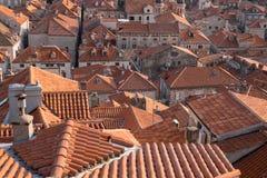 Azoteas de Dubrovnik Fotos de archivo