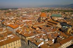 Azoteas de Florencia Fotografía de archivo libre de regalías
