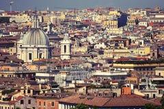 Azoteas de Roma Imagen de archivo libre de regalías