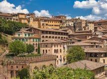 Azoteas de Siena Foto de archivo libre de regalías