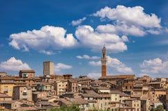 Azoteas de Siena Fotos de archivo libres de regalías