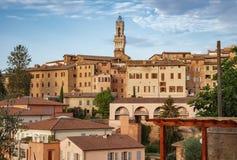 Azoteas de Siena Imagen de archivo libre de regalías