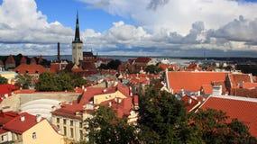 Azoteas de Tallinn Fotografía de archivo libre de regalías