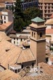 Azoteas del ladrillo en la ciudad de Granada Foto de archivo libre de regalías