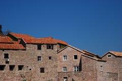 Azoteas del St. Stephan en Mpntenegro Fotos de archivo libres de regalías