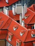 Azoteas rojas Fotos de archivo libres de regalías