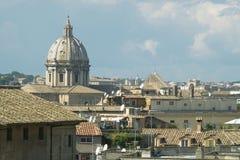 Azoteas romanas Fotografía de archivo libre de regalías