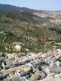 Azoteas y montaña Fotos de archivo