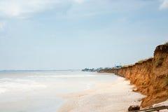 Azov θάλασσα και απότομος βράχος, Ουκρανία. στοκ εικόνες με δικαίωμα ελεύθερης χρήσης