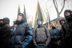 Azov Civilian Corps picketed the court Stock Images