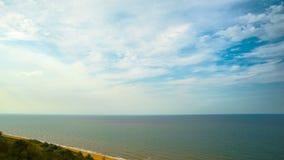 Azov hav, panorama- Time-schackningsperiod lager videofilmer