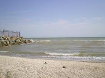 Azov sea. View on the Azov sea near village Stroganovka Ukraine Royalty Free Stock Photos