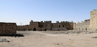 Azraq废墟防御,中央东部约旦,在阿曼东部的100 km 库存照片
