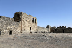 Azraq废墟防御,中央东部约旦,在阿曼东部的100 km 库存图片