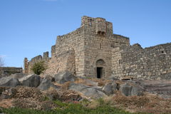 Azraq Palace. Old place in Jordanian desert, this castle was built of black basalt stock image